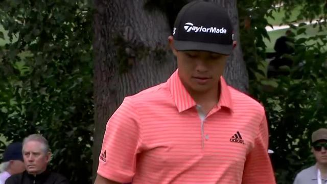 Collin Morikawa gets up-and-down from bunker at Safeway Open