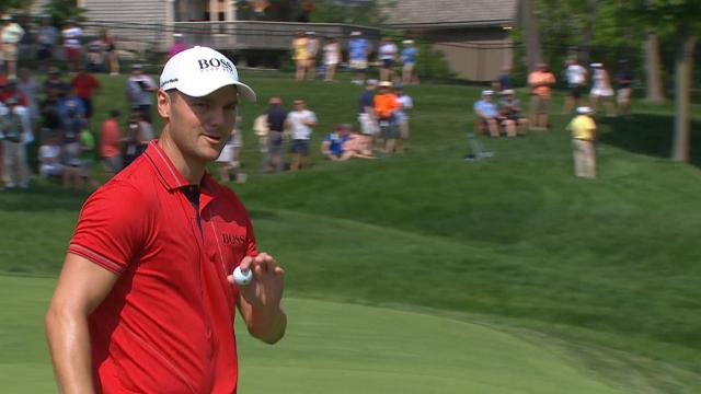 Martin Kaymer leads by two heading into Sunday at the Memorial