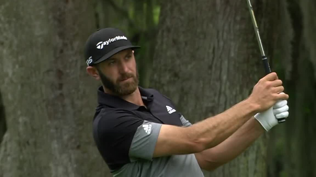 Dustin Johnson uses nice approach to set up birdie at RBC Heritage