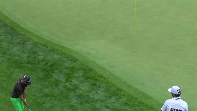 Adam Svensson's clutch bump-and-run on No. 15 at 3M Open