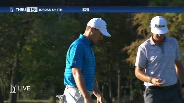 Jordan Spieth's tight approach leads to birdie at Vivint Houston Open