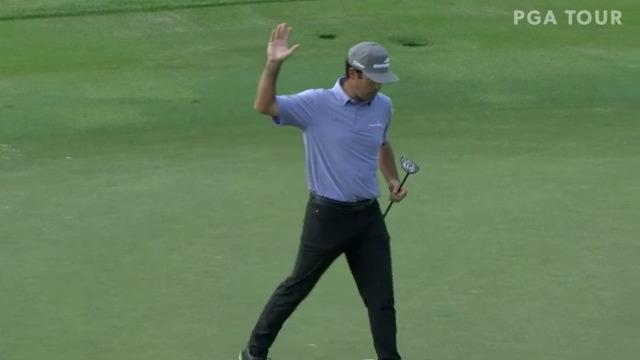 Robert Streb playoff victory at The RSM Classic with birdie putt