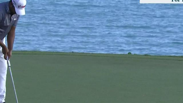 Anirban Lahiri birdies No. 16 at Bermuda
