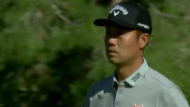 Kevin Na's approach hits flagstick on No. 1 at Shriners