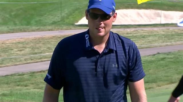 Adam Schenk's approach sets up 3-foot birdie putt at John Deere