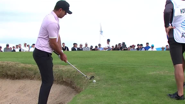Brooks Koepka's solid bunker shot on No. 1 at AT&T Byron Nelson
