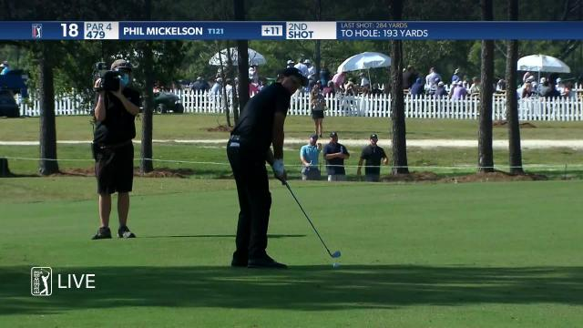 PGA TOUR | Phil Mickelson sinks a 193-yard eagle on No. 18 in Round 2 at Vivint Houston Open