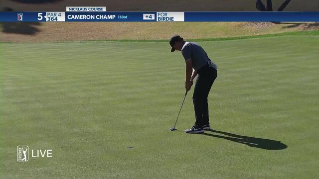 Cameron Champ birdies No. 4 in Round 1 at The American Express