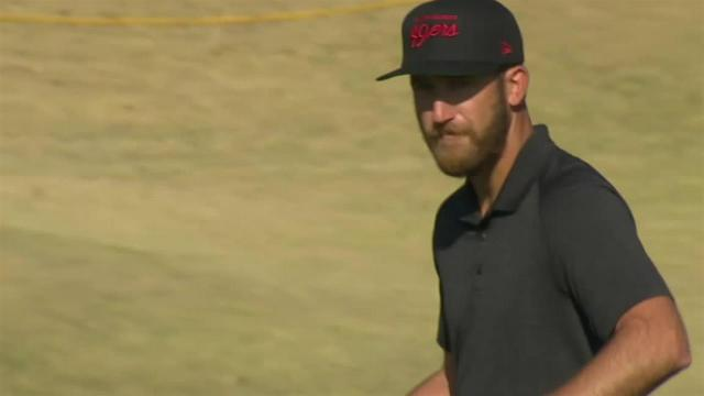 Kevin Chappell chips in for birdie at The American Express
