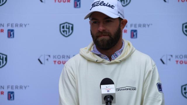 Cameron Young interview after Round 1 of the Evans Scholar Invitational