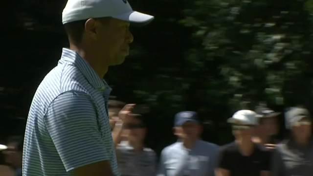 Tiger Woods's 22-foot birdie on No. 5 at WGC-Mexico