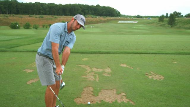 Swing plane instructional with Max Homa