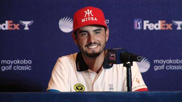 Abraham Ancer comments before Mayakoba