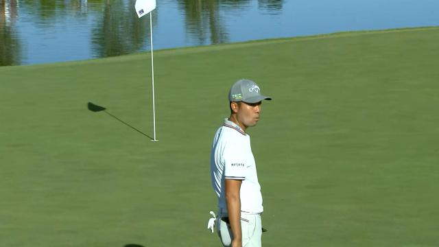 Today's Top Plays: Kevin Na's eagle putt from off the green is the Shot of the Day