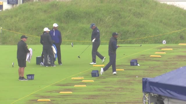 Three-time champion Tiger Woods finalises his preparations for The Open
