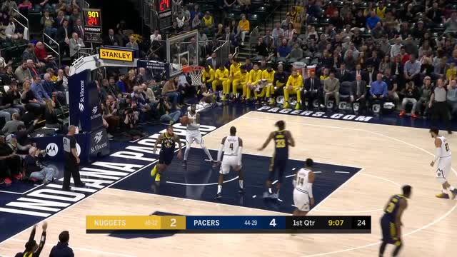 Bogdanovic scores 35, Pacers blow out Nuggets 124-88