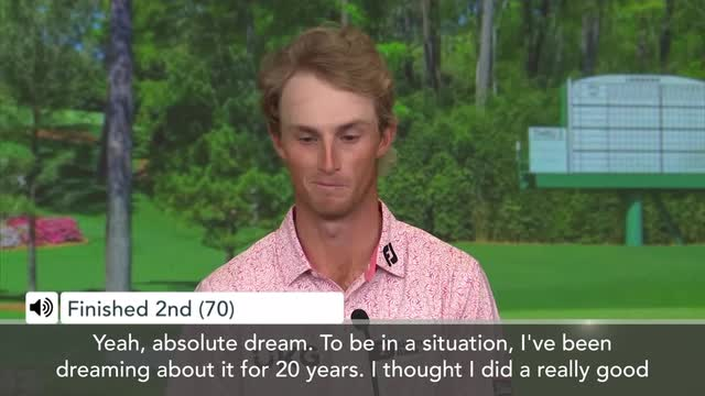 Augusta US Masters | 'I've been dreaming about it for 20 yrs' Zalatoris after finishing 2nd at Masters