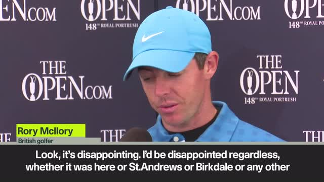 'Disappointed' McIlory reflects on 8-over-par at The Open