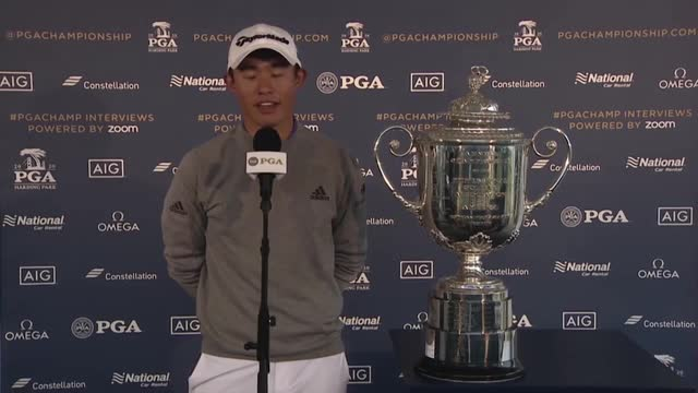 """This is meant to be"" -Collin Morikawa on PGA Championship win"