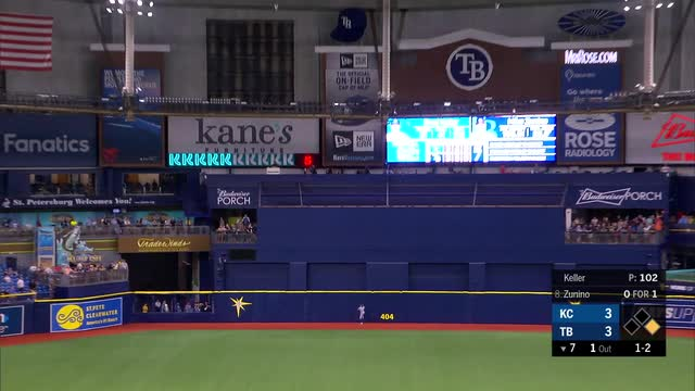 Beeks comes in, pitches Rays over sliding Royals 5-2