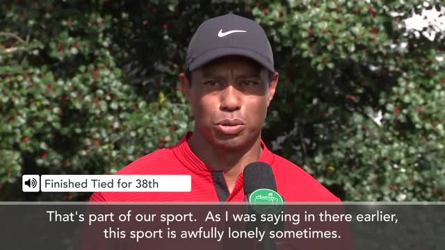 "Woods – golf ""lonely"" sometimes, after T38th finish at Masters"