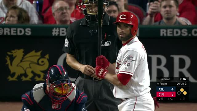 Hernandez Ks 3 with bases loaded, Reds beat Braves 4-2