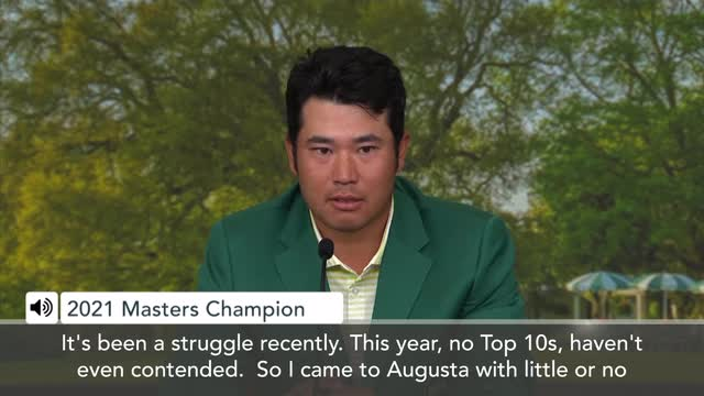 Augusta US Masters | It's been a real struggle recently' Masters Champion Matsuyama