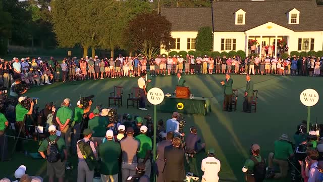Augusta US Masters | History making  Matsuyama receives Green Jacket and Masters trophy