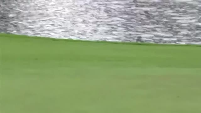 Jon Rahm skips ball across pond in amazing hole-in-one at the Masters practice