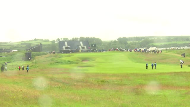 Rain affects conditions at Royal Portrush Golf Club on the eve of The Open
