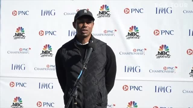 Golf News | Woods enjoying playing and chirping about the golf course with son Charlie