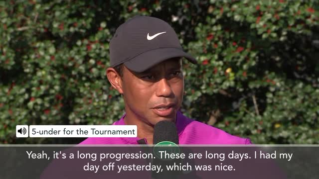 'I'm going to get a little bit sore' – Woods on 26 holes at Masters