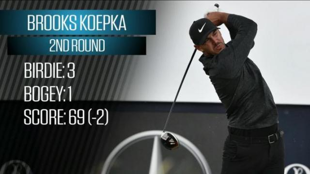 Breaking Down Brooks Koepka's Second Round at the Open Championship