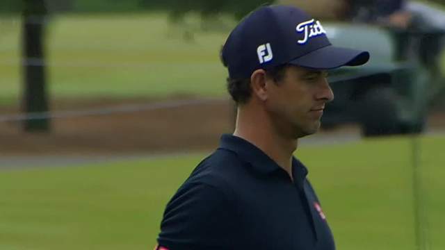 Adam Scott birdies No. 13 at Zurich Classic