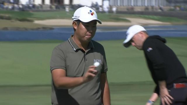 Byeong Hun An chips in for birdie at THE CJ CUP