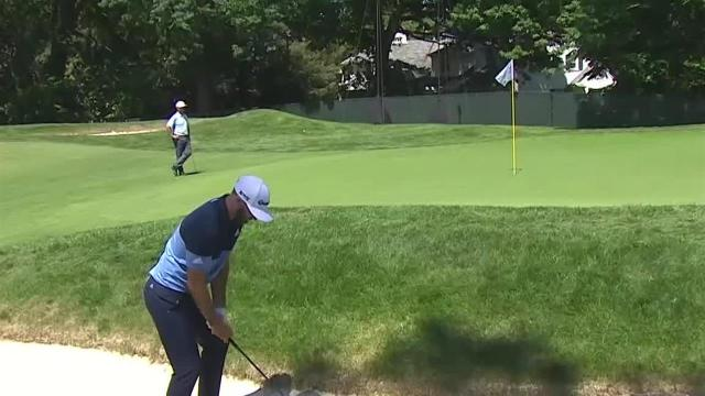 Dustin Johnson's near hole-out bunker shot at Rocket Mortgage
