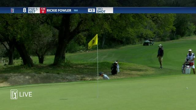Rickie Fowler's bunker play leads to birdie at Valero