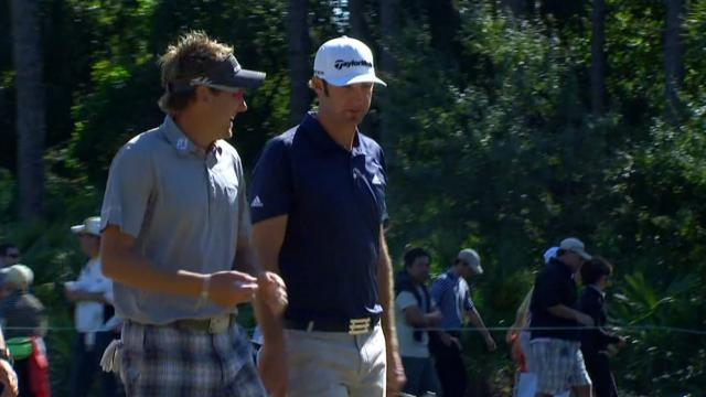 Dustin Johnson and Ian Poulter's highlights from winning 2010 QBE Shootout