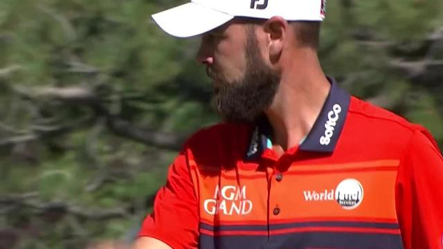 Troy Merritt sinks lengthy birdie putt from the fringe at Barracuda Championship