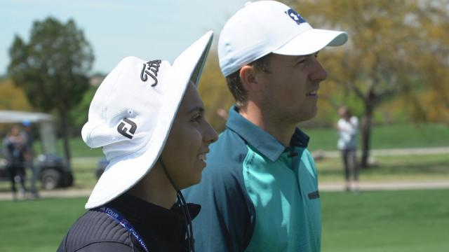 Jordan Spieth makes a wish come true