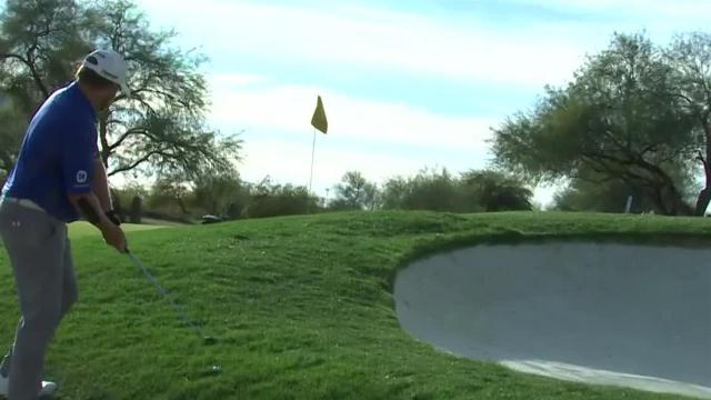 J.B. Holmes gets up-and-down for birdie at Waste Management
