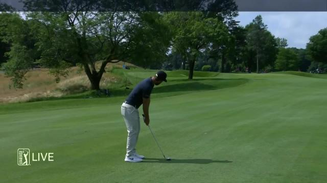 Kevin Chappell birdies No. 2 in Round 4 at Travelers