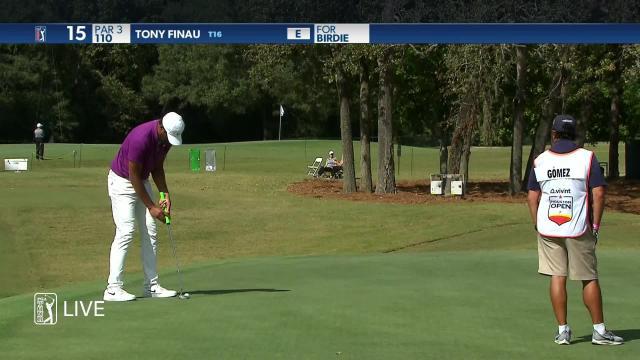 Tony Finau makes birdie on No. 15 in Round 1 at Vivint Houston Open