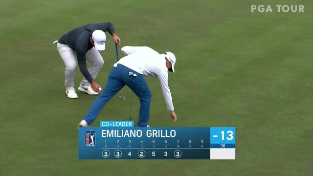 Emiliano Grillo makes birdie on No. 7 in Round 3 at The American Express