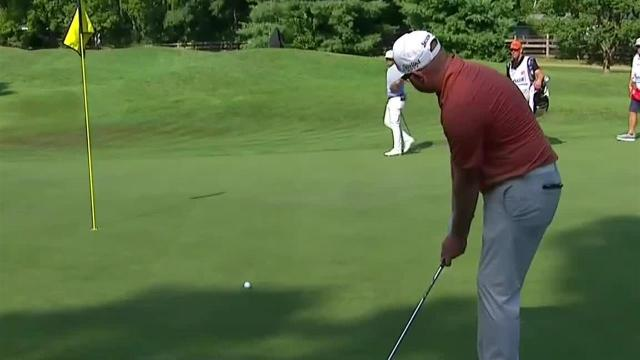 Ted Potter Jr.'s birdie bump-and-run at Barbasol