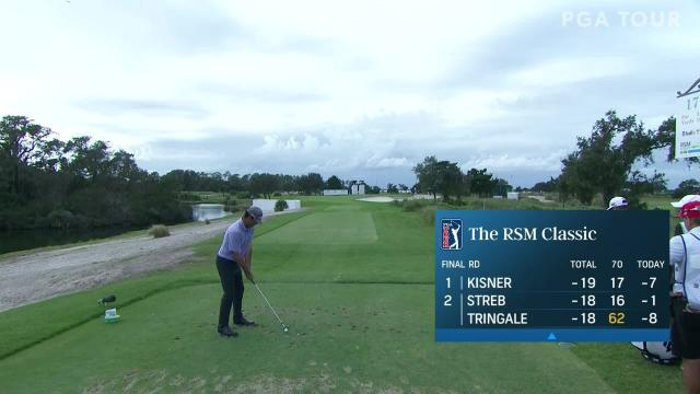 Robert Streb makes birdie on No. 17 in Round 4 at The RSM Classic
