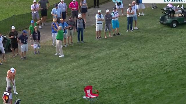 Danny Lee's approach from the rough sets up 7-foot birdie at Arnold Palmer