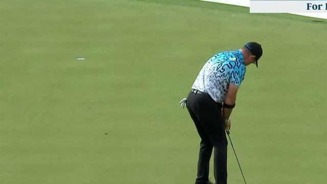 Rory Sabbatini sinks 22-footer for birdie at Waste Management