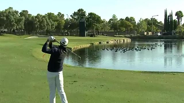 Tony Finau uses nice approach to set up birdie at Shriners