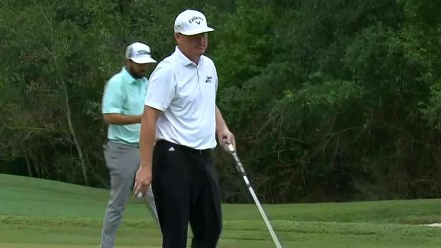 Chad Campbell's approach to 5 feet leads to birdie at Houston Open